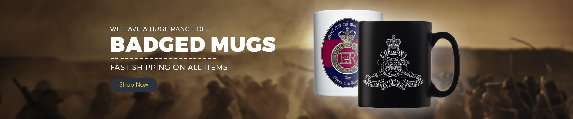 Personalised Black Satin Mug Royal Regiment of Fusiliers RRF